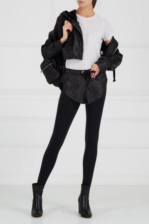 Черные брюки с шортами Natasha Zinko. Цвет: черный