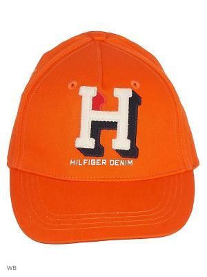 Бейсболка Tommy Hilfiger. Цвет: оранжевый
