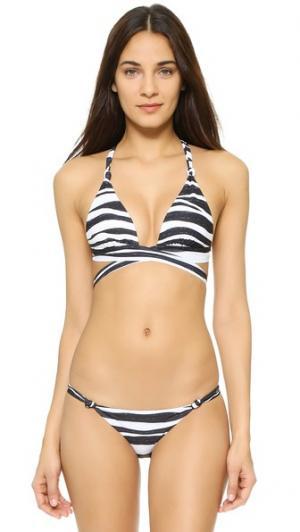 Лиф бикини Anita с перекрещенной отделкой ViX Swimwear. Цвет: черный/белый