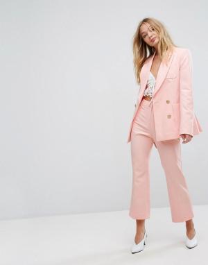 Millie Mackintosh Укороченные расклешенные брюки. Цвет: розовый