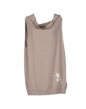 Короткое платье REBEL QUEEN. Цвет: бежевый