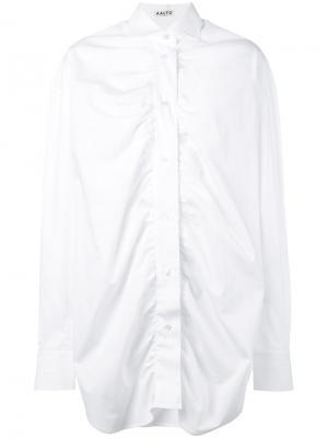 Присборенная спереди рубашка Aalto. Цвет: белый