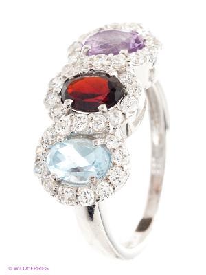 Кольцо BALEX. Цвет: голубой, серебристый, сиреневый, красный
