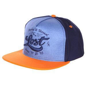 Бейсболка  Swifter Mng Lost. Цвет: оранжевый,синий,голубой