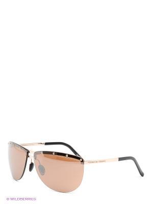 Солнцезащитные очки Porsche Design. Цвет: коричневый