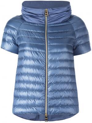Дутая куртка-жилет Herno. Цвет: синий
