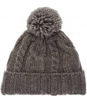Трикотажная шапка с текстильным помпоном CANADIAN. Цвет: серый