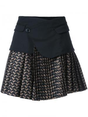 Жаккардовая юбка A.F.Vandevorst. Цвет: чёрный