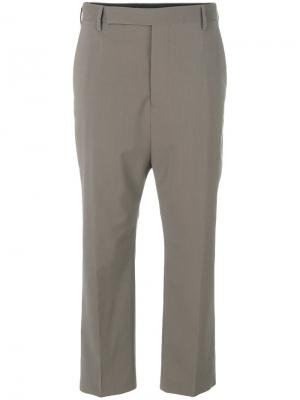 Укороченные строгие брюки Rick Owens. Цвет: телесный