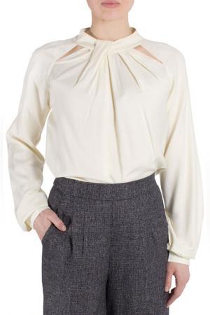 Блуза FEVER LONDON. Цвет: бежевый