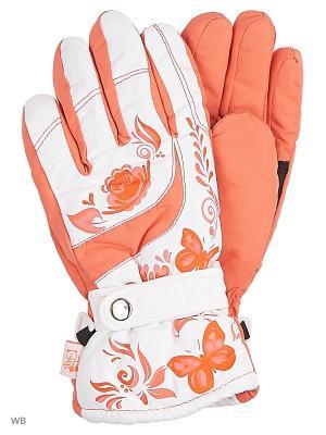 Перчатки Mini. Цвет: оранжевый