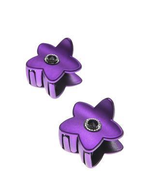 Заколка-краб (2 шт.) Happy Charms Family. Цвет: фиолетовый, черный