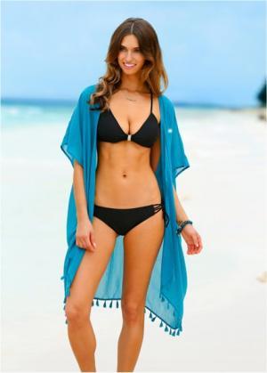 Пляжное кимоно (бирюзовый) bonprix. Цвет: бирюзовый