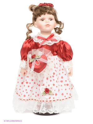 Кукла фарфоровая Кира Lisa Jane. Цвет: красный
