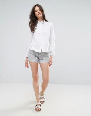 Waven Джинсовые шорты в винтажном стиле с эффектом кислотной стирки In. Цвет: серый