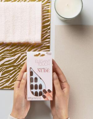 Elegant Touch Накладные ногти Nude Collection Squoval. Цвет: коричневый