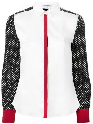 Рубашка с принтом в горох Guild Prime. Цвет: белый