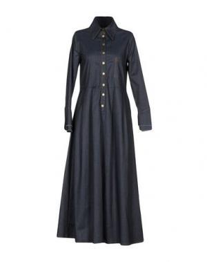 Длинное платье HOLY GHOST. Цвет: синий