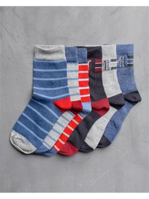 Носки Modniy JUK. Цвет: синий,серый меланж,красный