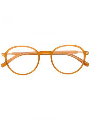 Очки в круглой оправе Mykita. Цвет: жёлтый и оранжевый