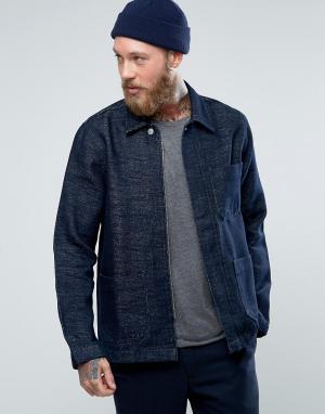 Weekday Джинсовая куртка. Цвет: синий