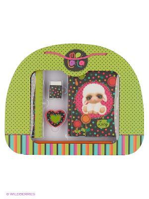 Подарочный детский НаборОвечка Lucy Daisy Design. Цвет: зеленый