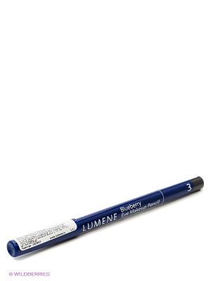 Контурный карандаш для век Lumene Blueberry  №3 Темно-серый перламутровый, 1,1 гр. Цвет: синий