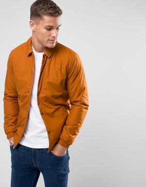 Selected Homme Теплая спортивная куртка. Цвет: оранжевый