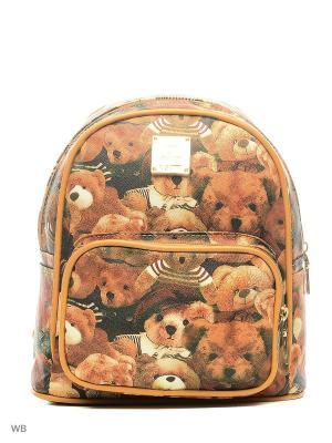 Рюкзаки 1Azaliya. Цвет: коричневый