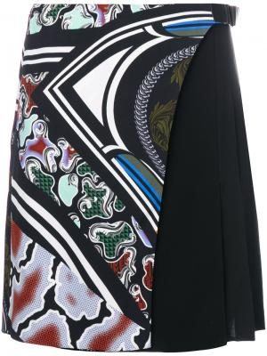 Юбка с плиссировкой сбоку Versace. Цвет: чёрный