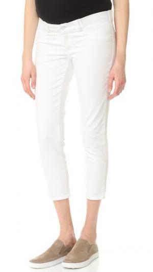Укороченные джинсы для беременных Florence DL1961. Цвет: фарфоровый