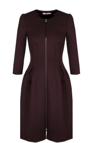 Приталенное платье-миди с укороченным рукавом Dorothee Schumacher. Цвет: темно-фиолетовый