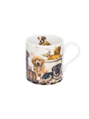 Кружка - подарок Выставка собак Elan Gallery. Цвет: коричневый, белый, черный