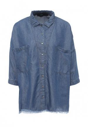 Рубашка джинсовая Befree. Цвет: синий
