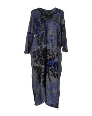Платье до колена ZUCCA. Цвет: серый