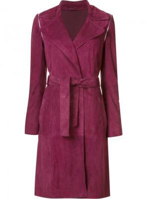 Пальто Gretchen с поясом Zac Posen. Цвет: красный