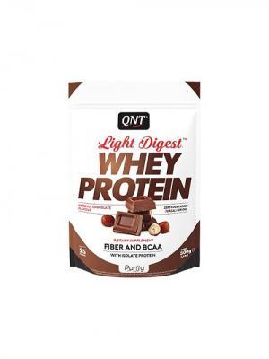 Протеин Light Digest Whey Protein (шоколад-лесной орех) 500 гр QNT. Цвет: белый