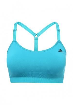 Топ спортивный adidas. Цвет: голубой