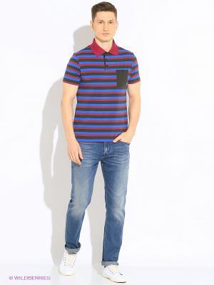 Футболка-поло Mark Formelle. Цвет: бордовый, черный, синий