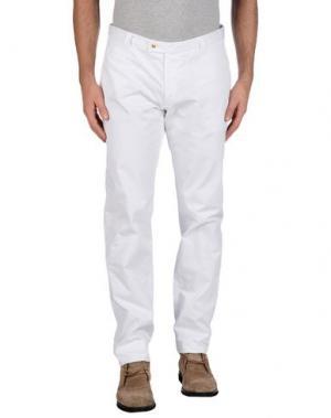 Повседневные брюки BERWICH. Цвет: белый