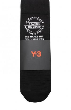 Носки с принтом Y-3. Цвет: черный