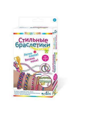 Happy Loom. Набор для создания браслетов Стильные браслетики. Loom. Цвет: розовый, желтый, зеленый