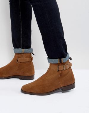 ASOS Светло-коричневые замшевые ботинки челси. Цвет: рыжий