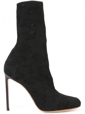 Ботинки с перфорацией Francesco Russo. Цвет: чёрный