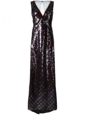 Вечернее платье с пайетками Marc Jacobs. Цвет: синий