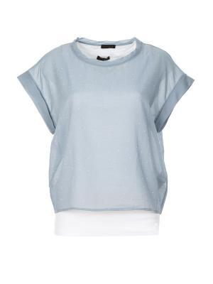 Блузка Peserico. Цвет: серо-голубой