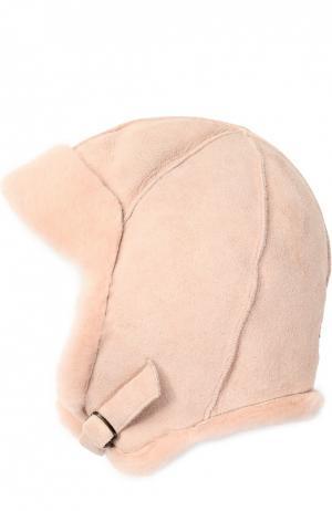 Шапка из овчины Petit Nord. Цвет: розовый