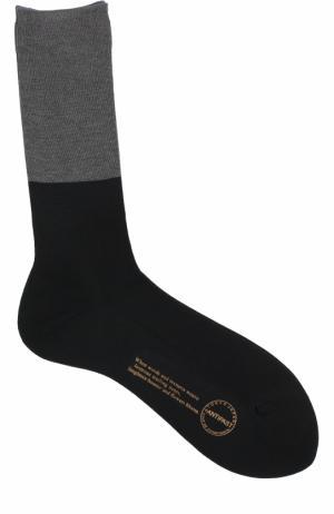 Хлопковые носки Antipast. Цвет: черный