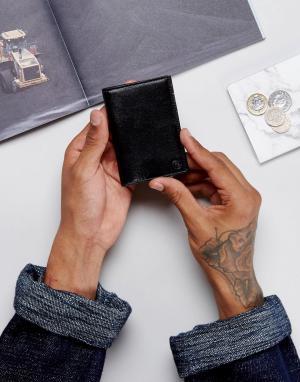 PS Paul Smith Черная кожаная кредитница с логотипом и контрастной отделкой внутри. Цвет: черный