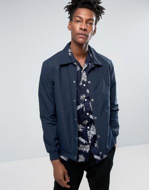 Minimum Темно-синяя спортивная куртка узкого кроя из нейлона Gus. Цвет: темно-синий